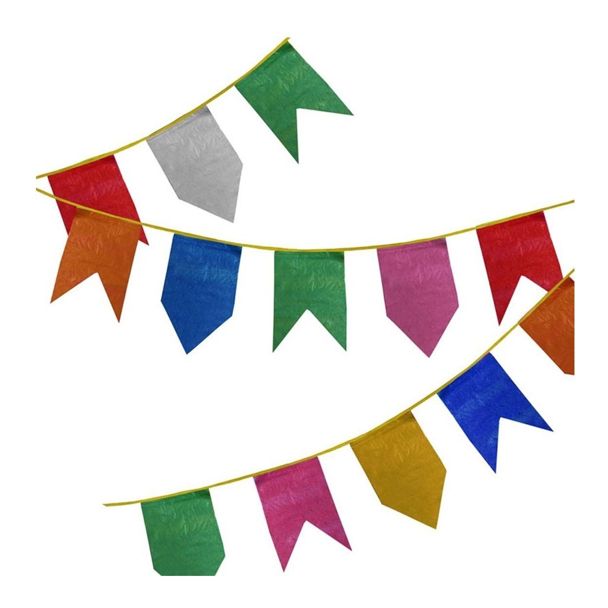 Bandeirola Festa Junina de Plástico - 10 Metros