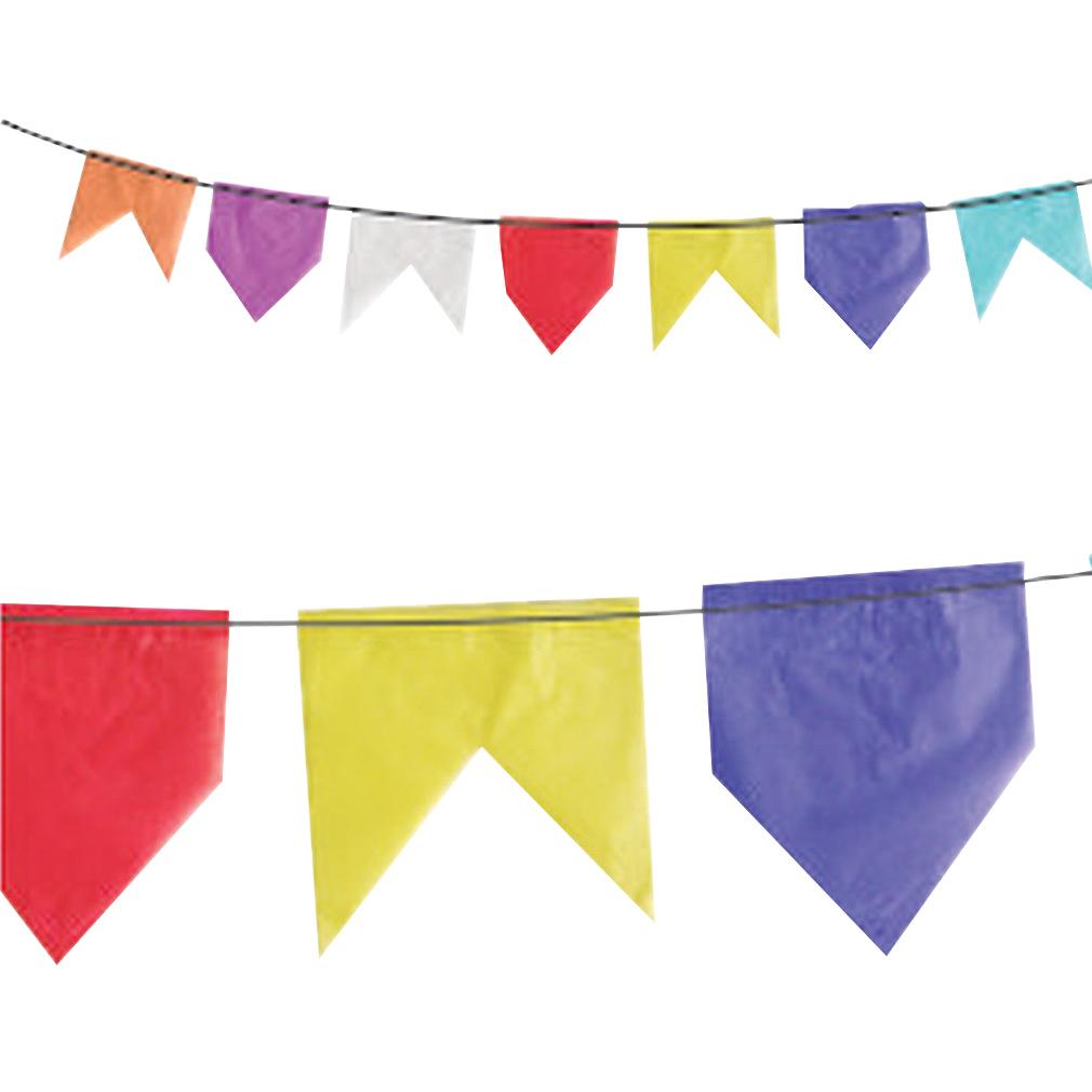 Bandeirinha Festa Junina de Papel Seda - 10 Metros