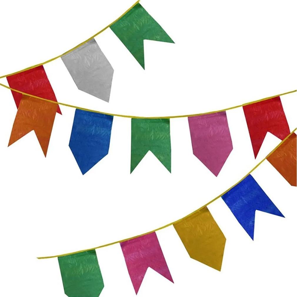 Bandeirinha Festa Junina de Plástico - 10 Metros
