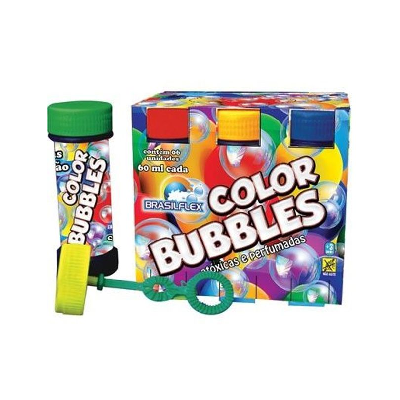Bolha de Sabão Color Bubbles - 6 unidades