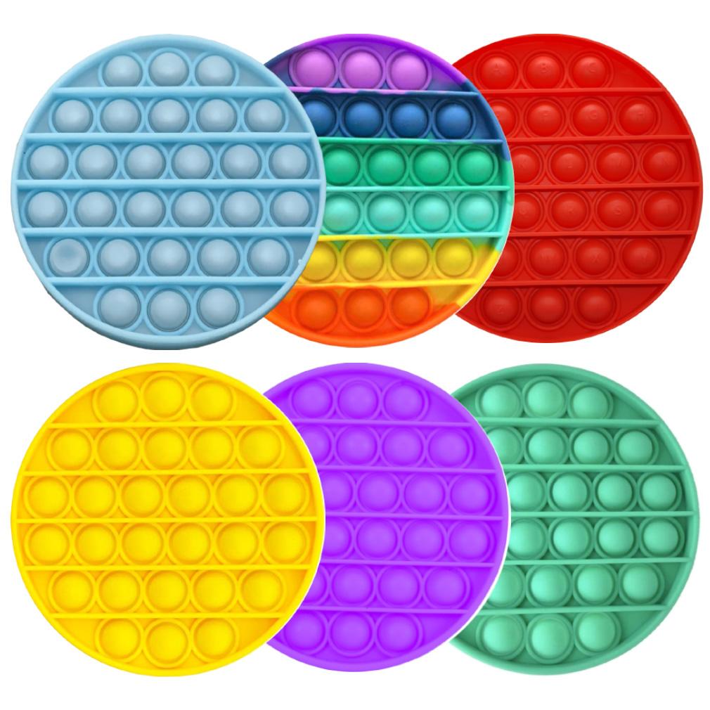 Brinquedo Sensorial Pop It Redondo - Cores