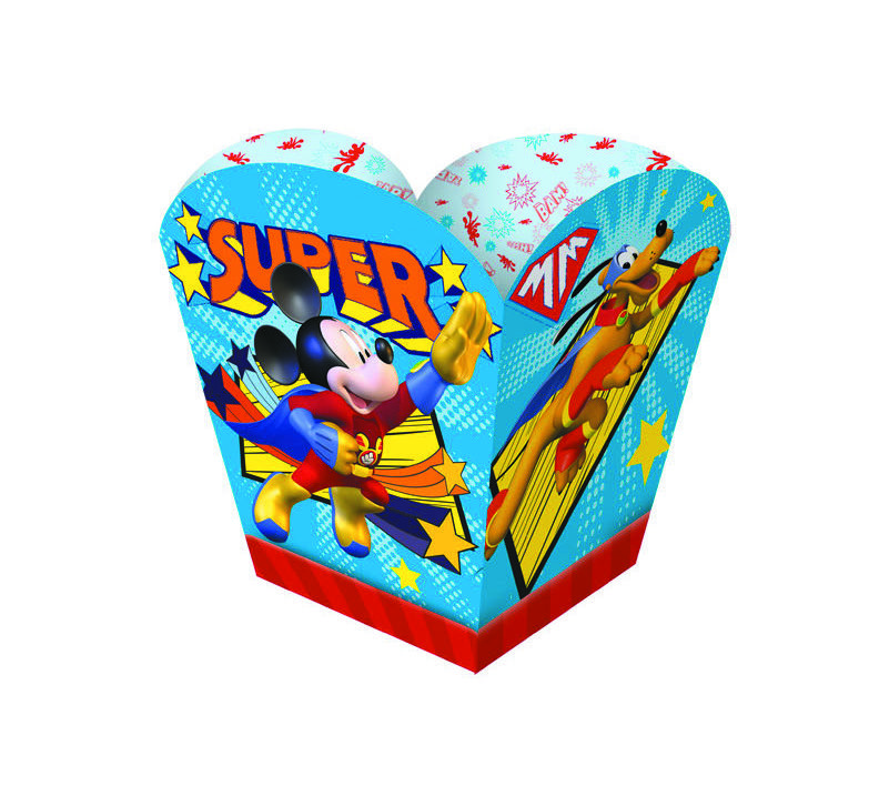 Cachepot Mickey Super Herói - 08 unidades