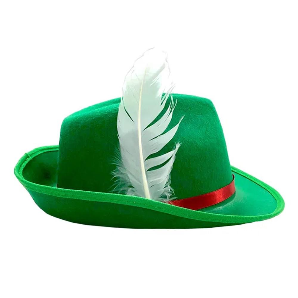 Chapéu Alemão Verde com Pena