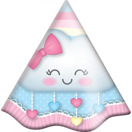 Chapéu de Aniversário Chuva de Amor - 08 unidades