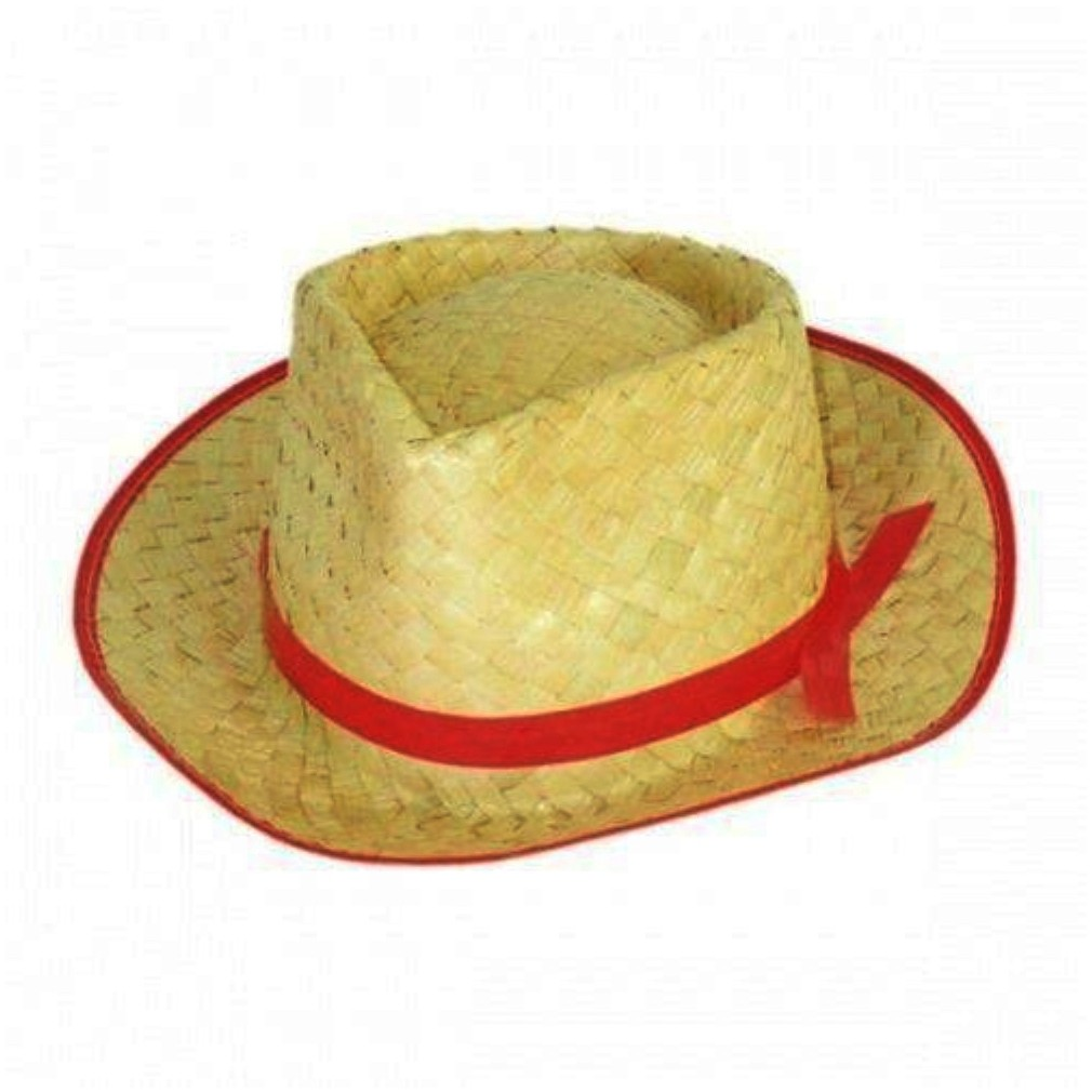 Chapéu de Palha Malandrinho Vermelho