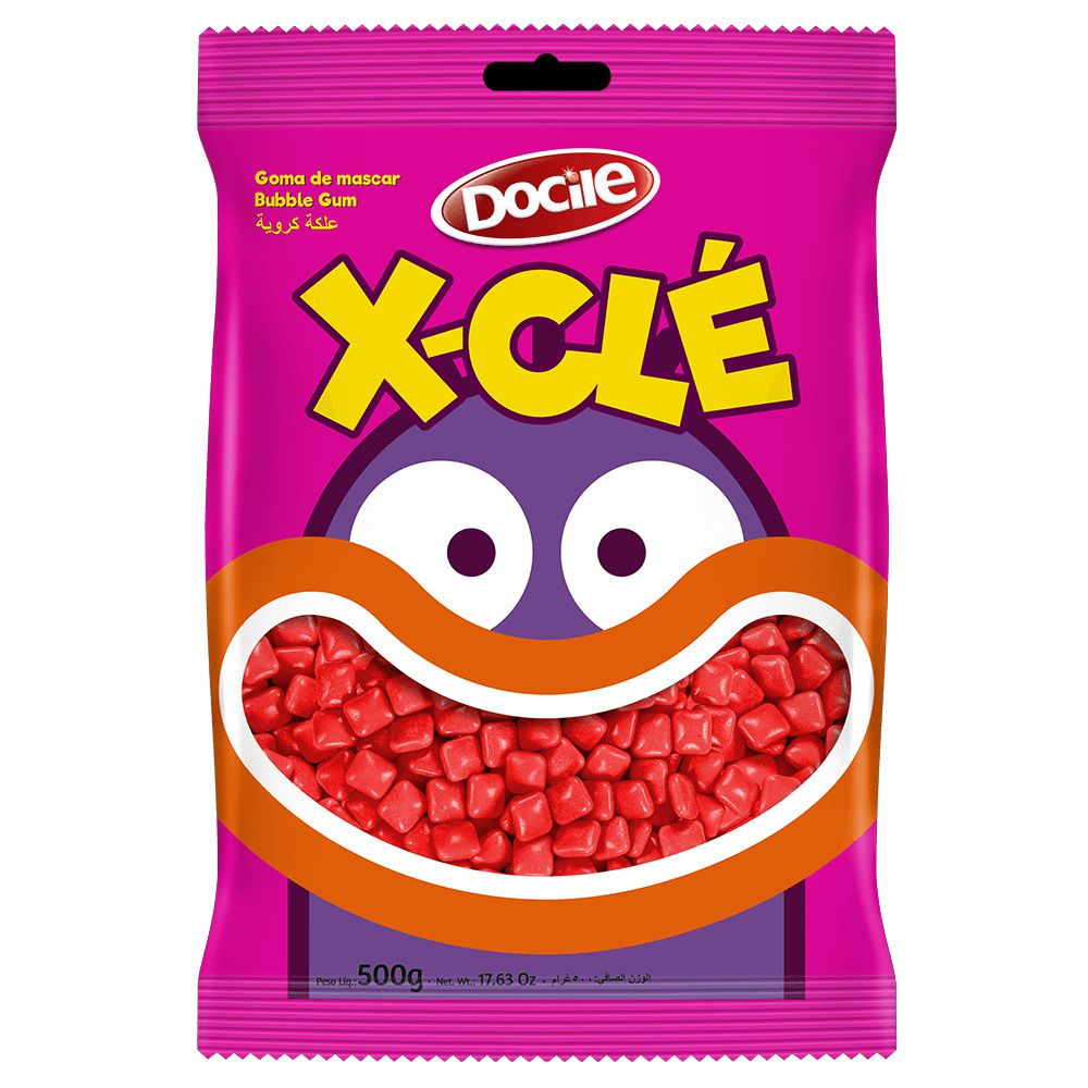 Chicle X-Clé Morango 500g