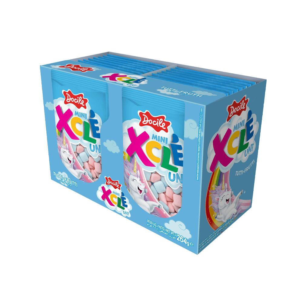 Chiclete Mini Xclé Tutti Frutti Unicórnio - 264g