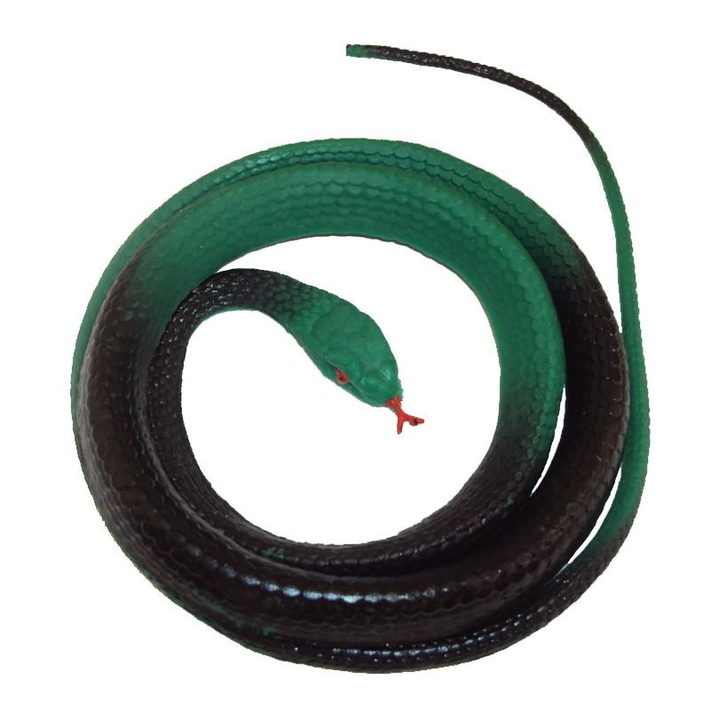 Cobra Verde de Brinquedo Pequena de Borracha
