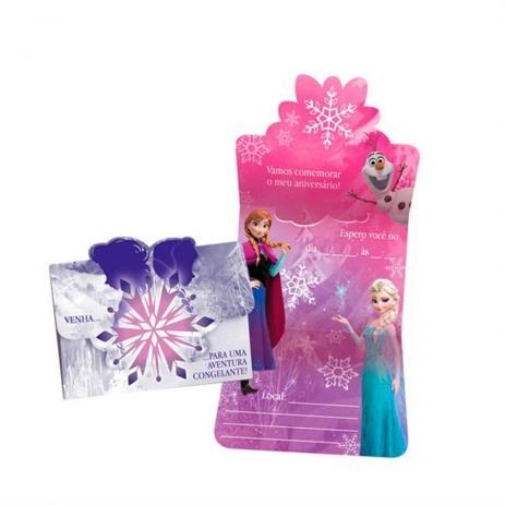 Convite de Aniversário Frozen Aventura Congelante - 8 unidades