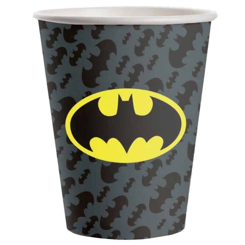 Copo de Papel Batman 200ml - 8 unidades