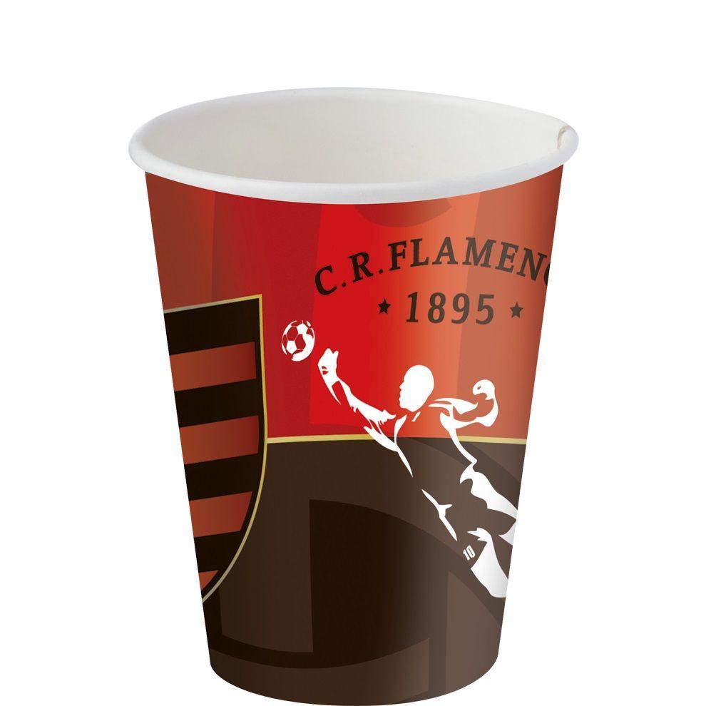 Copo Descartável Flamengo 200ml - 8 unidades