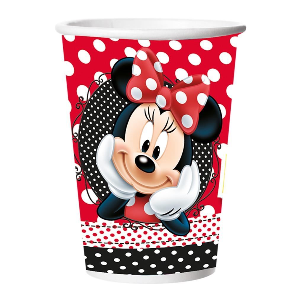 Copo Minnie Mouse - 8 Unidades