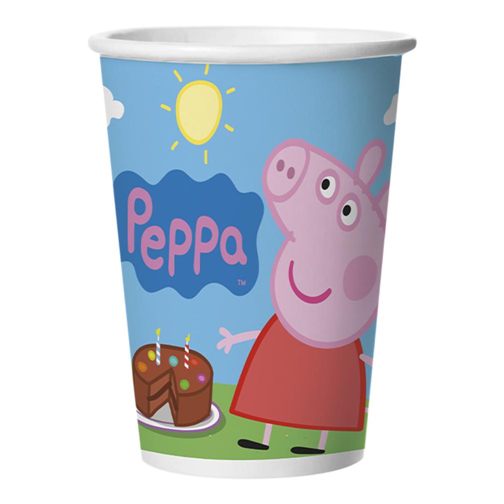 Copo Peppa Pig - 180ml - 8 Unidades