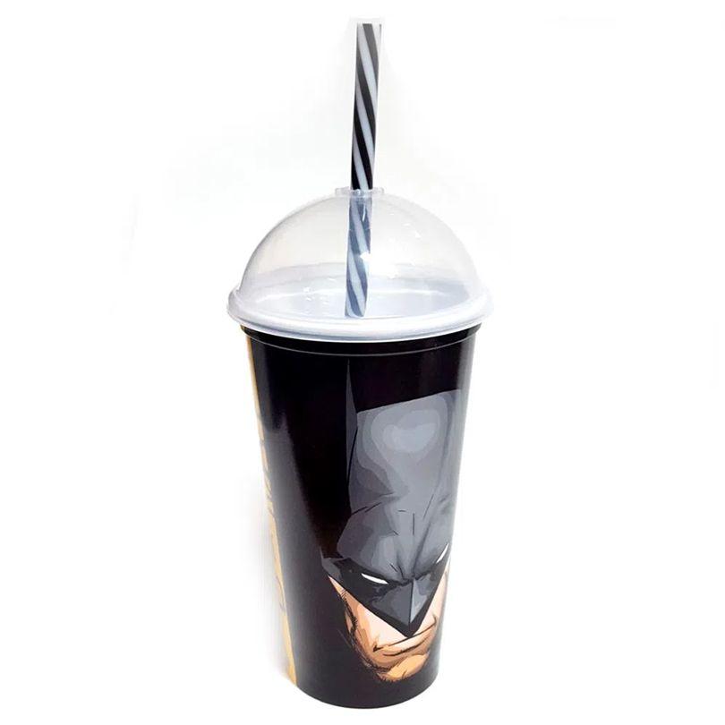 Copo com Canudo Batman Shake - 500ml