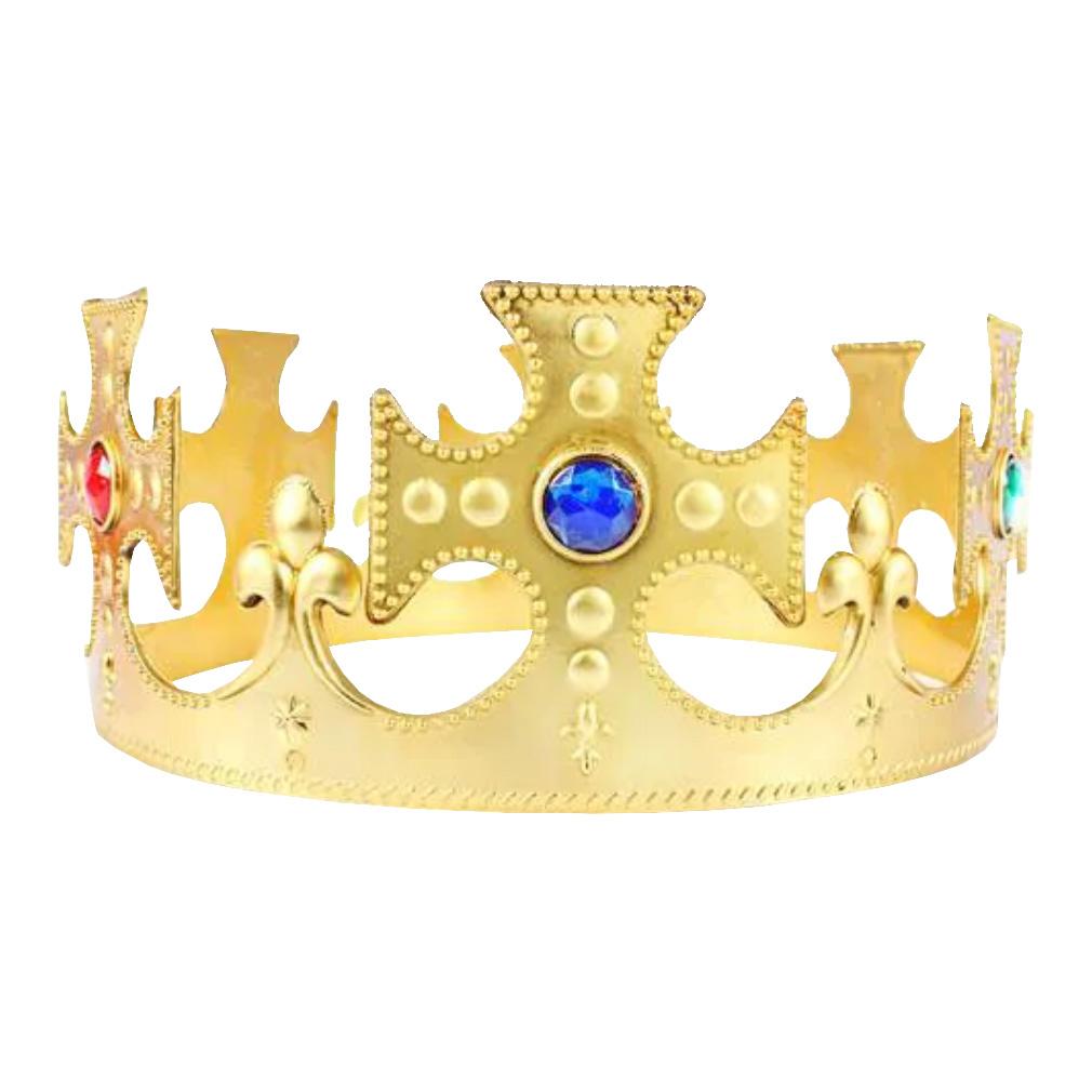 Coroa de Rei Ajustável de Plástico - 60cm x 8cm