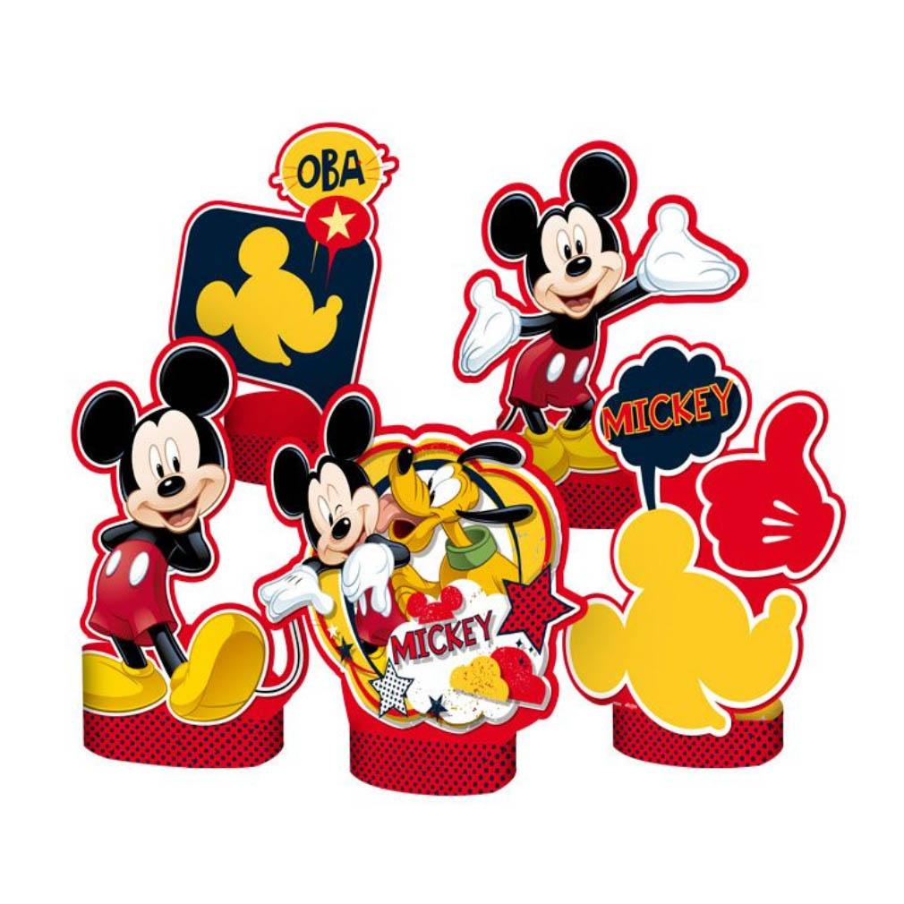 Decoração de Mesa Mickey Clássico - 5 Itens