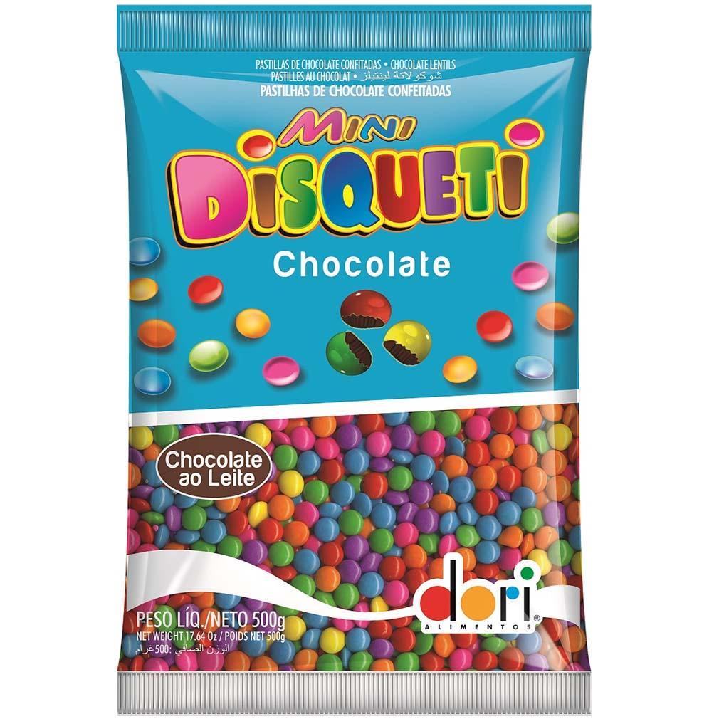 Disqueti Chocolate Preto Pequeno - 500g