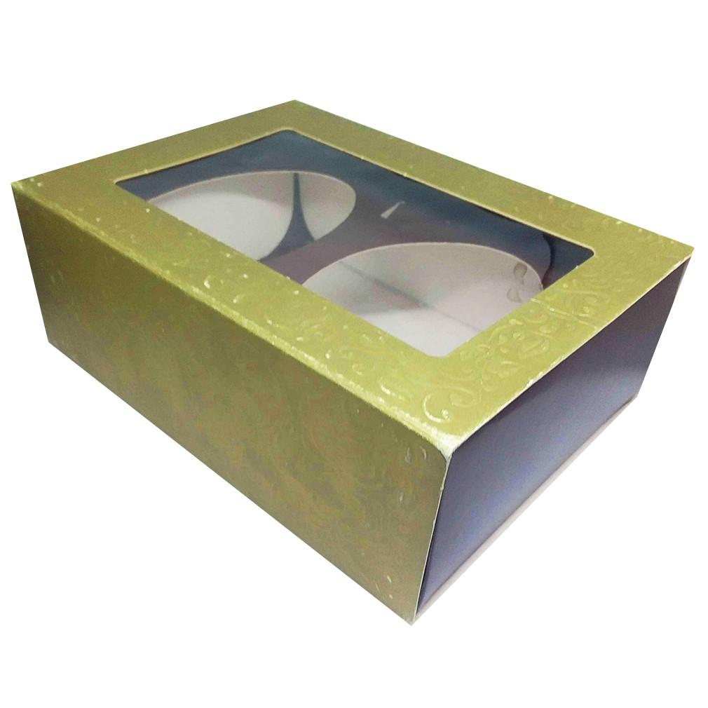 Embalagem para Ovo de Colher Dourada