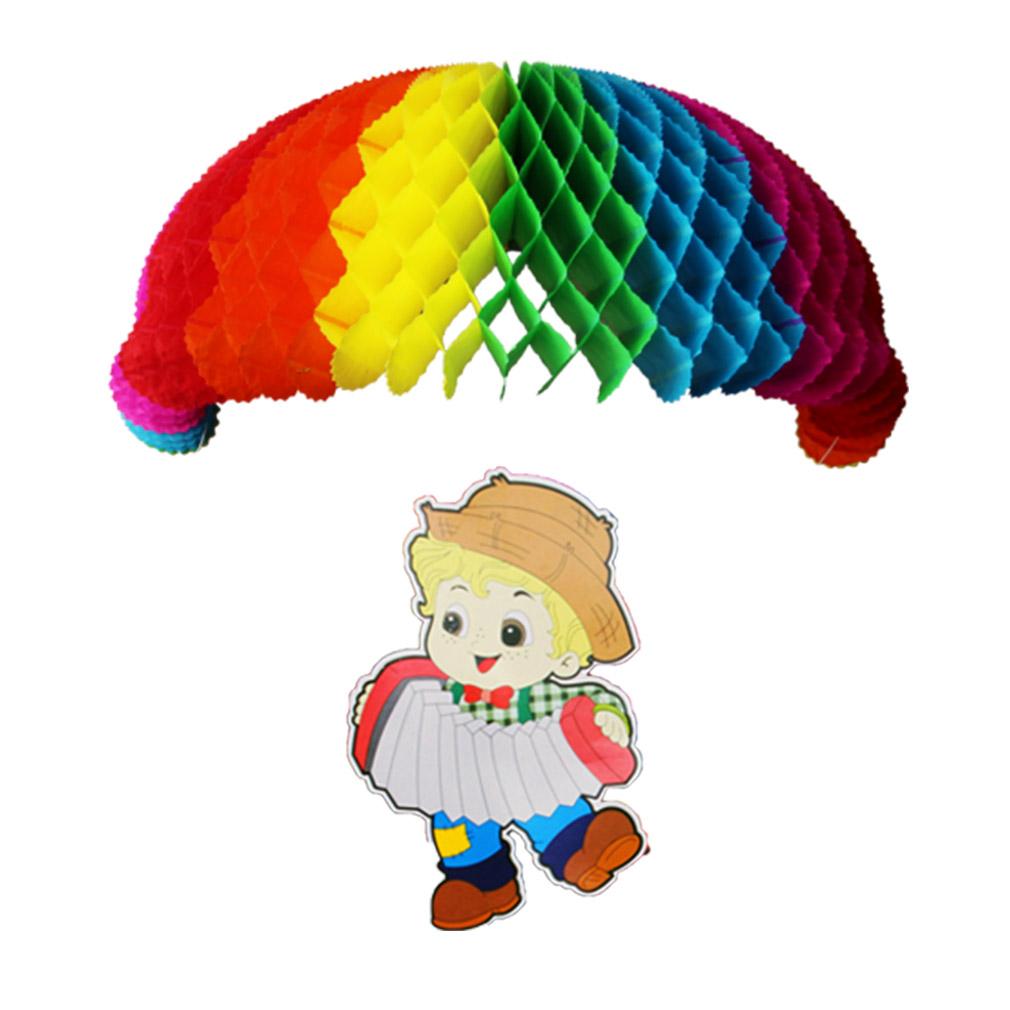Enfeite Festa Junina Menino com Paraquedas - 38cm x 55cm