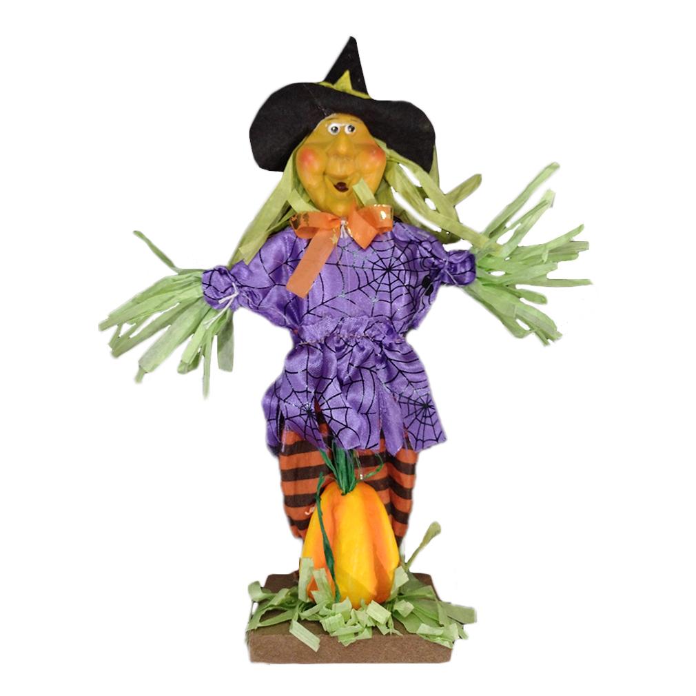 Espantalho Halloween Bruxa de Mesa - 30cm x 15cm