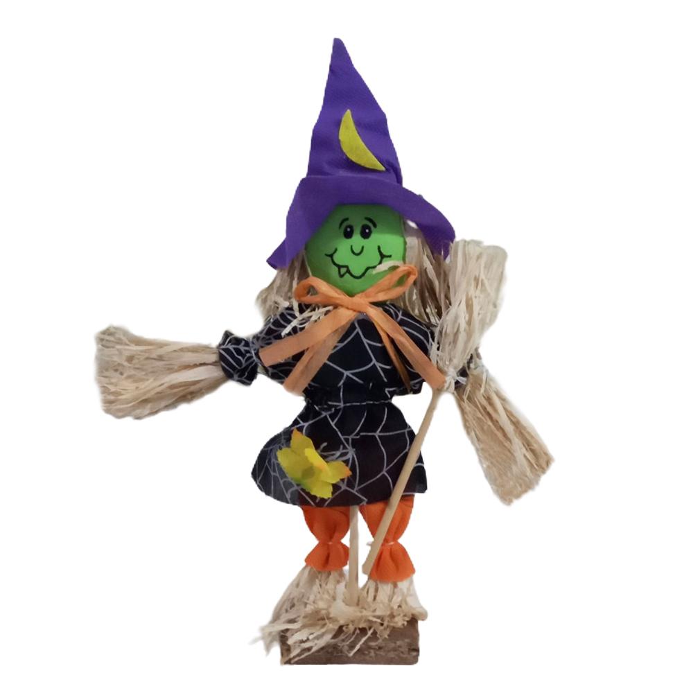 Espantalho Halloween Bruxinha de Mesa - 25cm x 15cm
