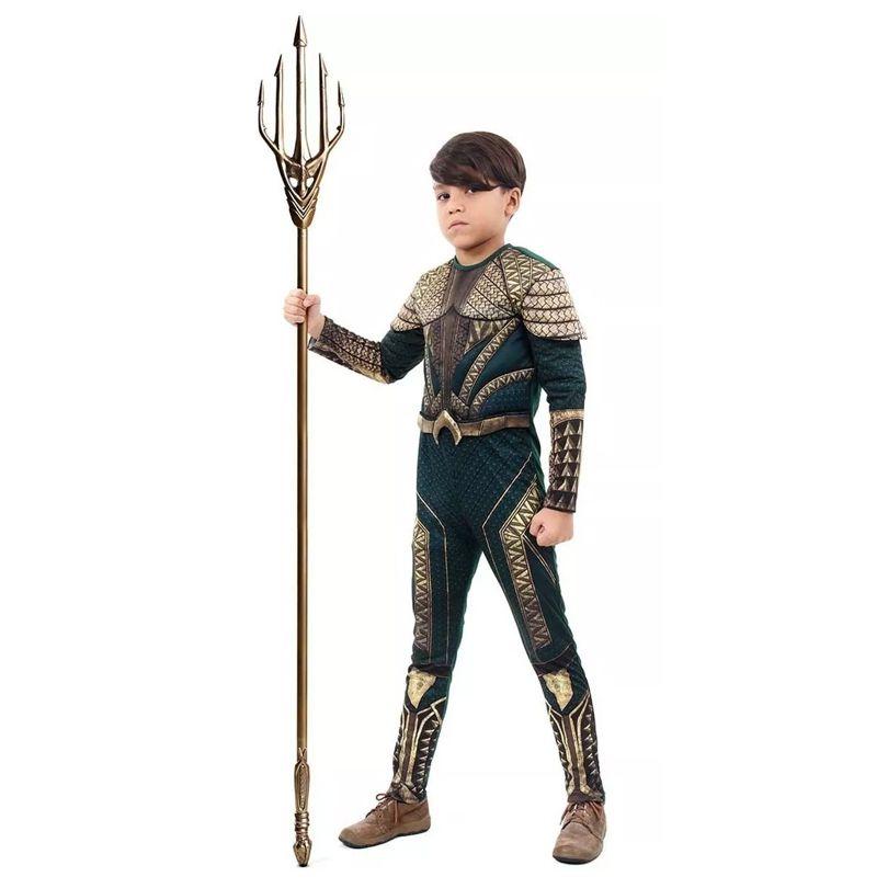Fantasia Aquaman Luxo Infantil
