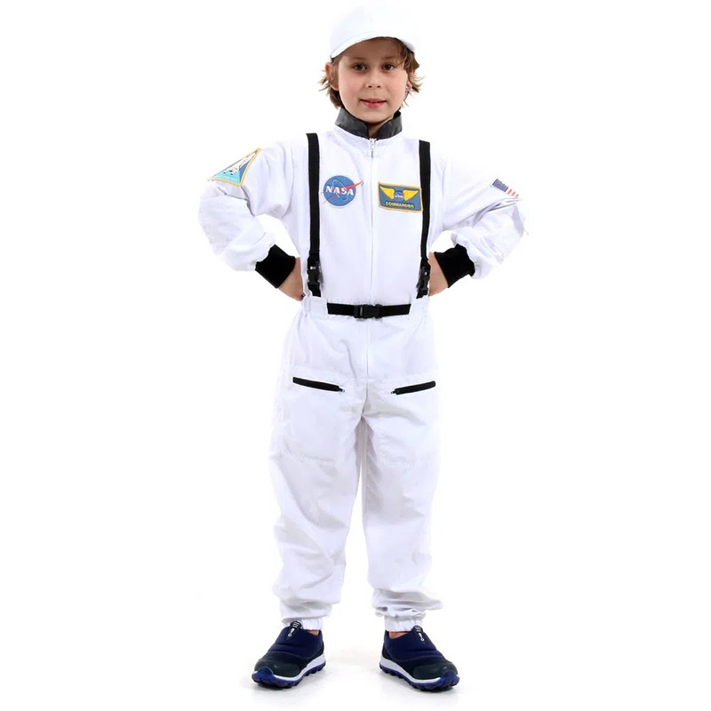 Fantasia Astronauta Infantil Luxo com Boné