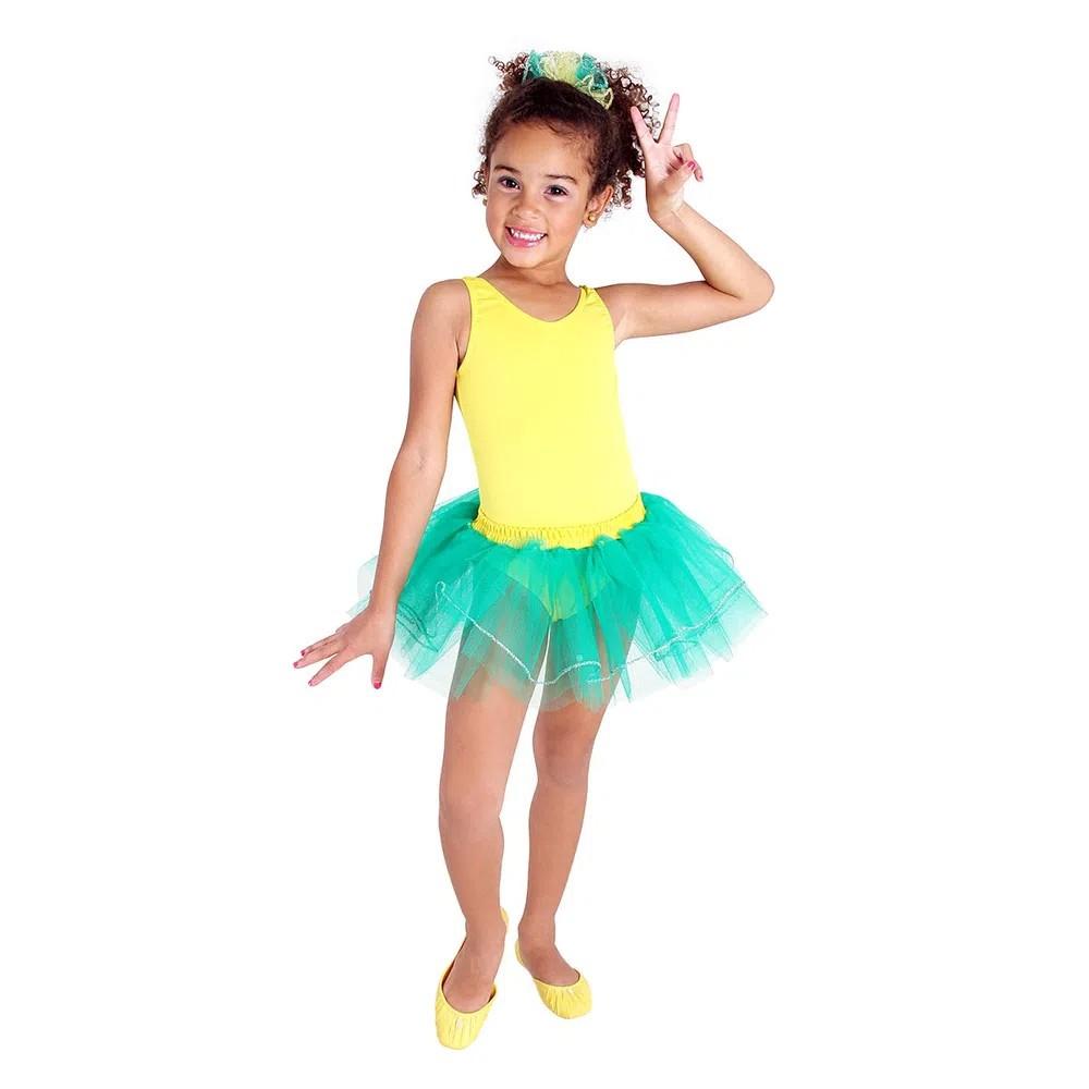 Fantasia Bailarina Brasileirinha - Infantil
