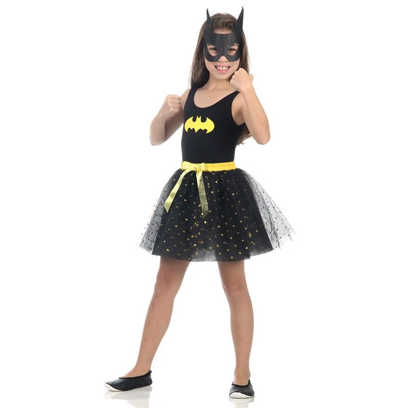 Fantasia Batgirl - Dress Up - Infantil