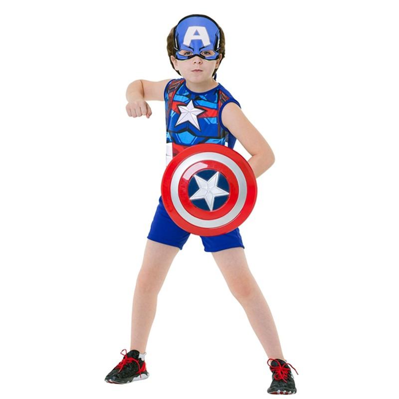 Fantasia Capitão América com Escudo - Pop - Infantil