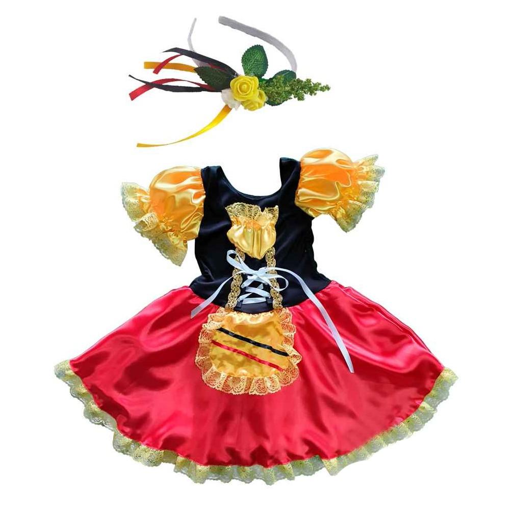 Fantasia de Alemã Infantil Vestido