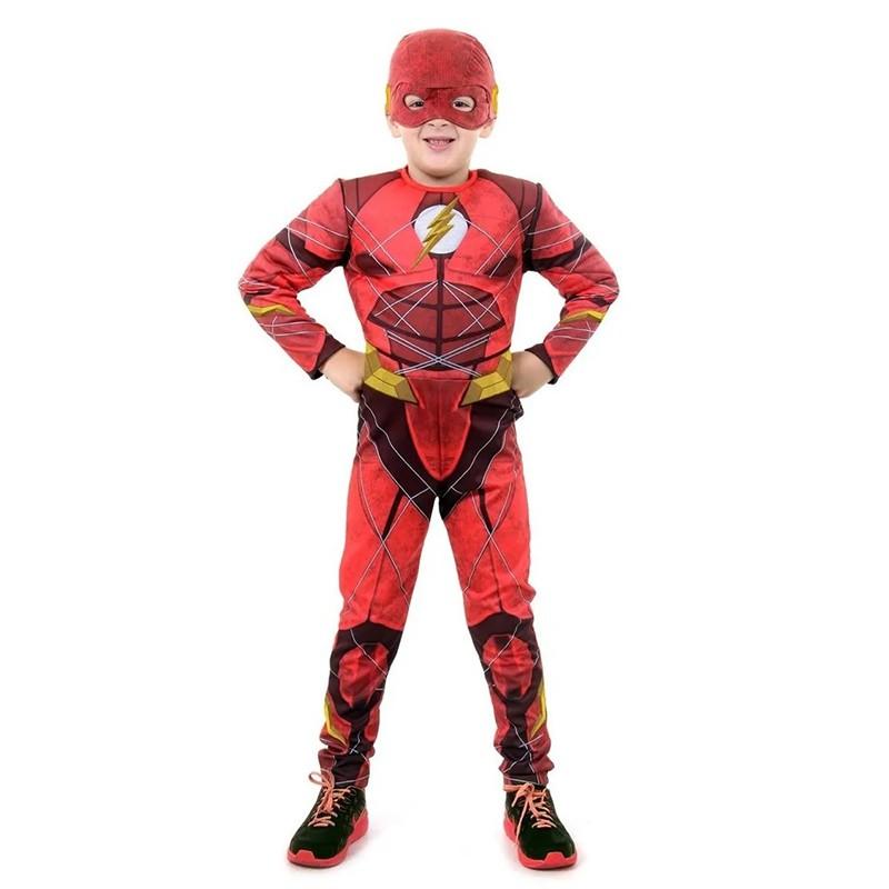 Fantasia Flash Liga da Justiça Luxo - Infantil