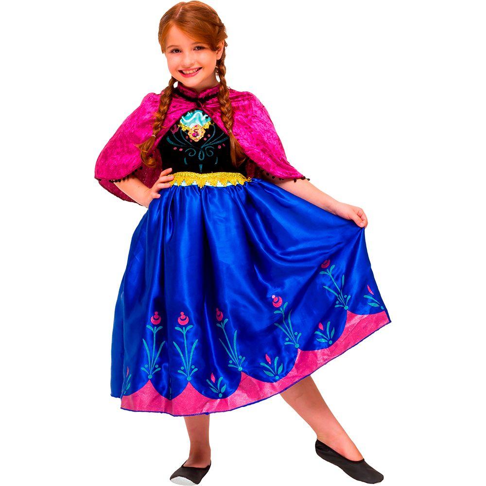 Fantasia Frozen Anna - Premium - Infantil