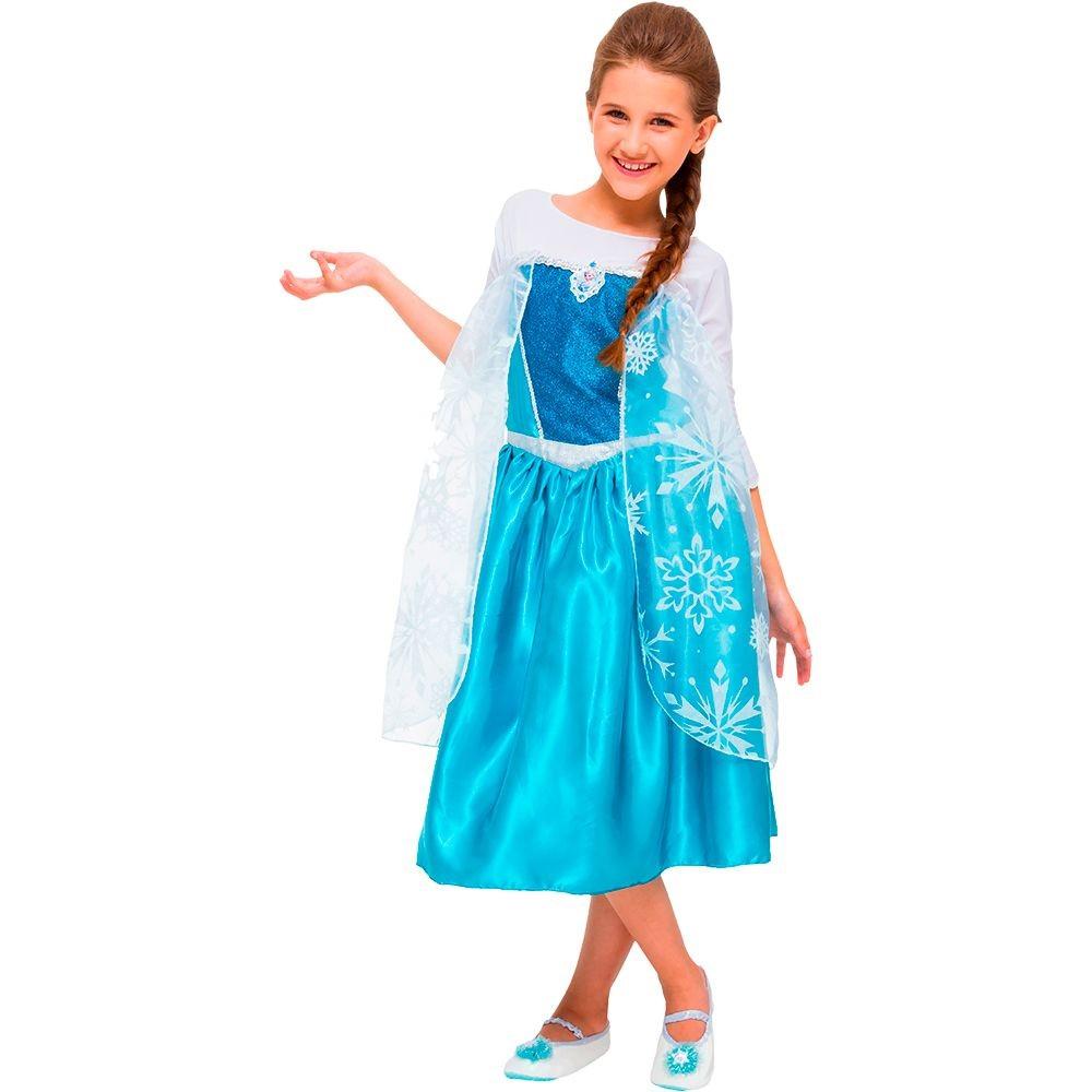 Fantasia Frozen Elsa - Clássica - Infantil