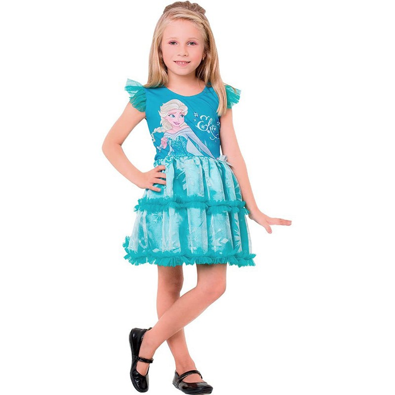 Fantasia Frozen Elsa - Pop - Infantil