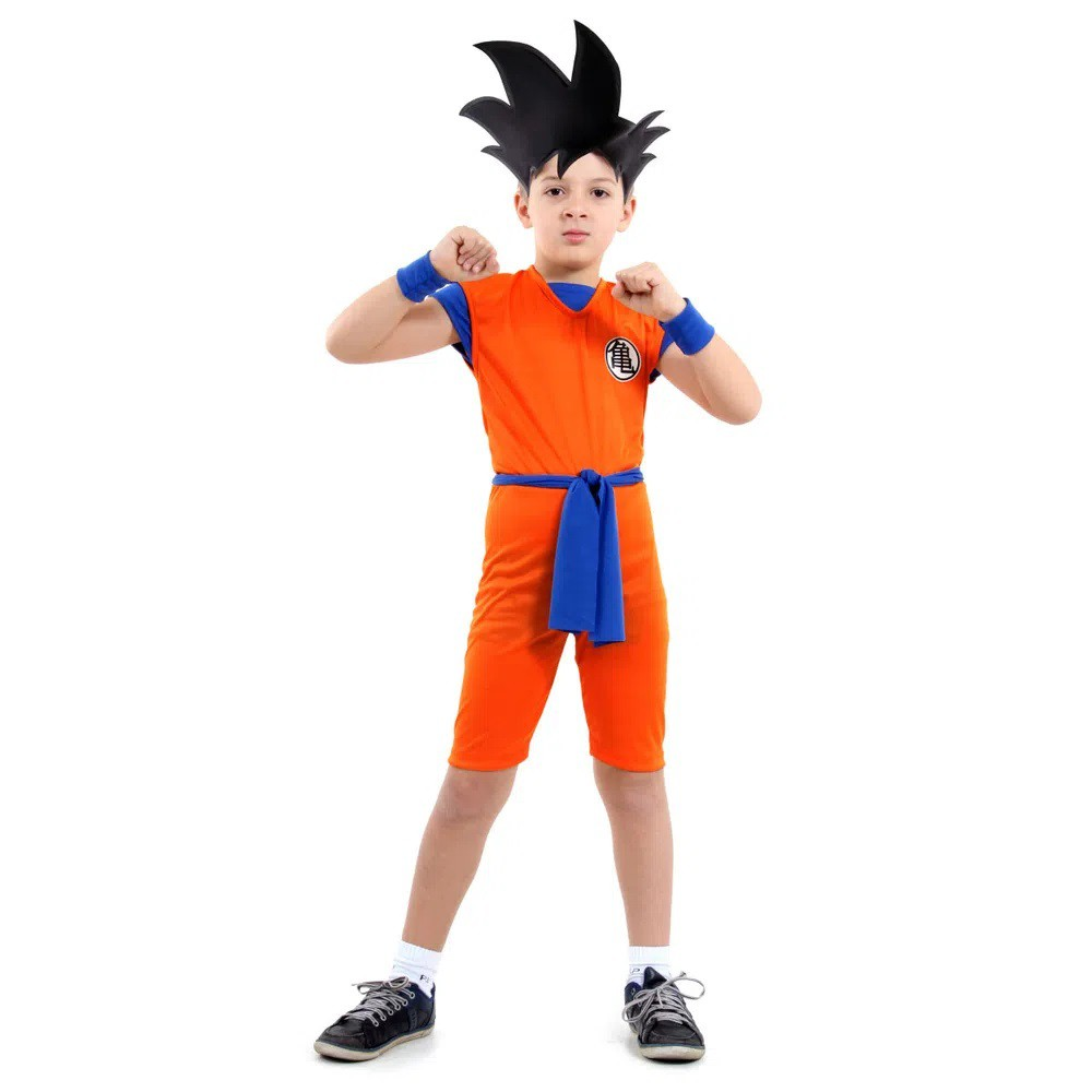 Fantasia Goku Dragon Ball - Curta - Infantil