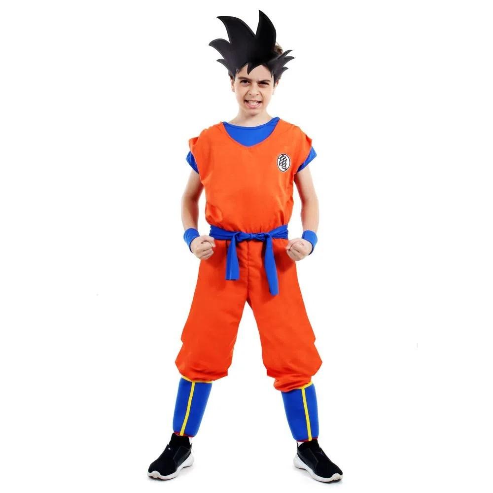 Fantasia Goku Infantil Standard com Acessórios