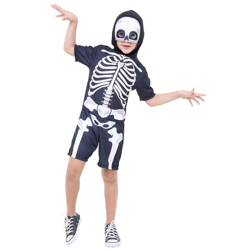 Fantasia Halloween Esqueleto - Curta - Infantil