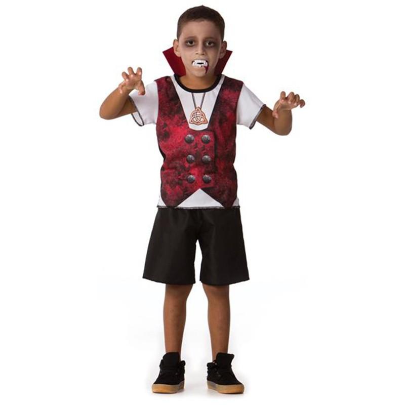 Fantasia Halloween Vampiro - Curta - Clássica - Infantil