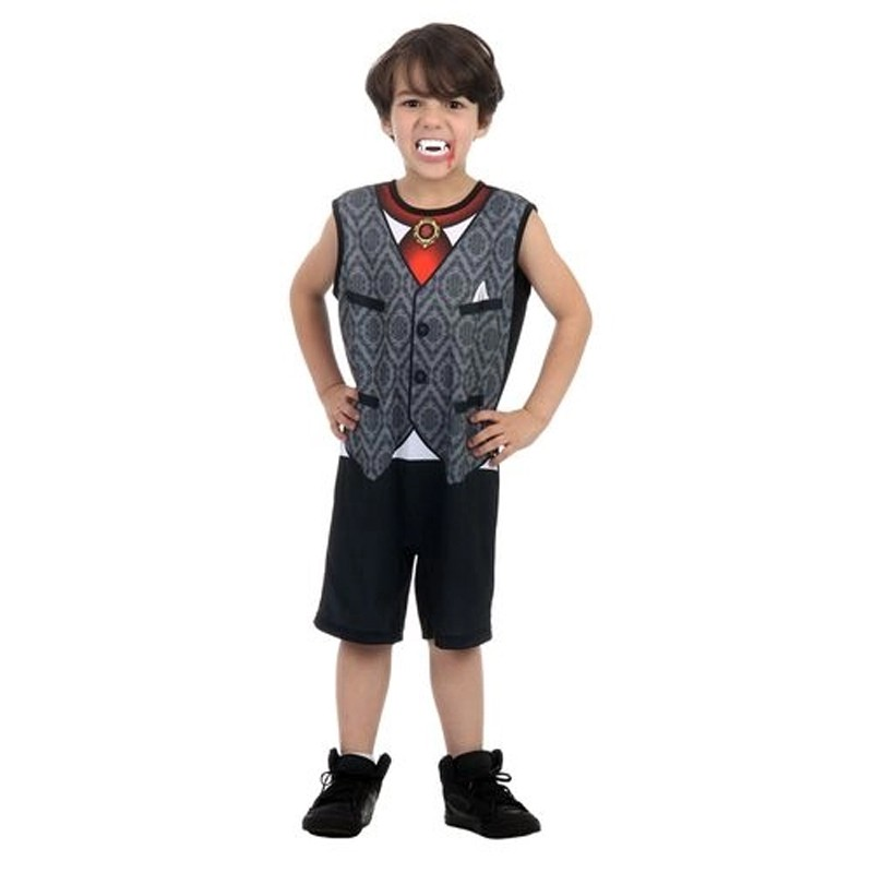 Fantasia Halloween Vampiro James - Super Pop - Infantil