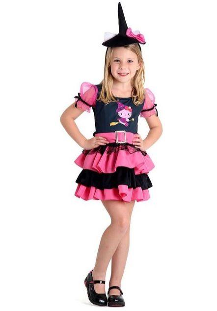 Fantasia Bruxinha Hello Kitty Infantil