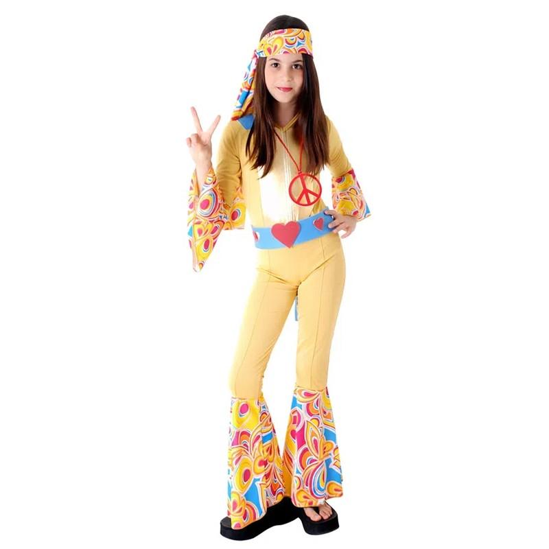 Fantasia Hippie Anos 70 - Infantil