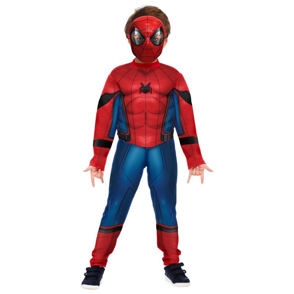 Fantasia Homem Aranha Infantil Luxo com Músculos e Máscara