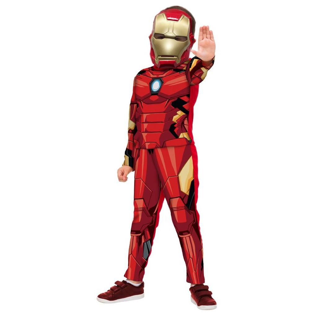 Fantasia Homem de Ferro Infantil Luxo com Máscara