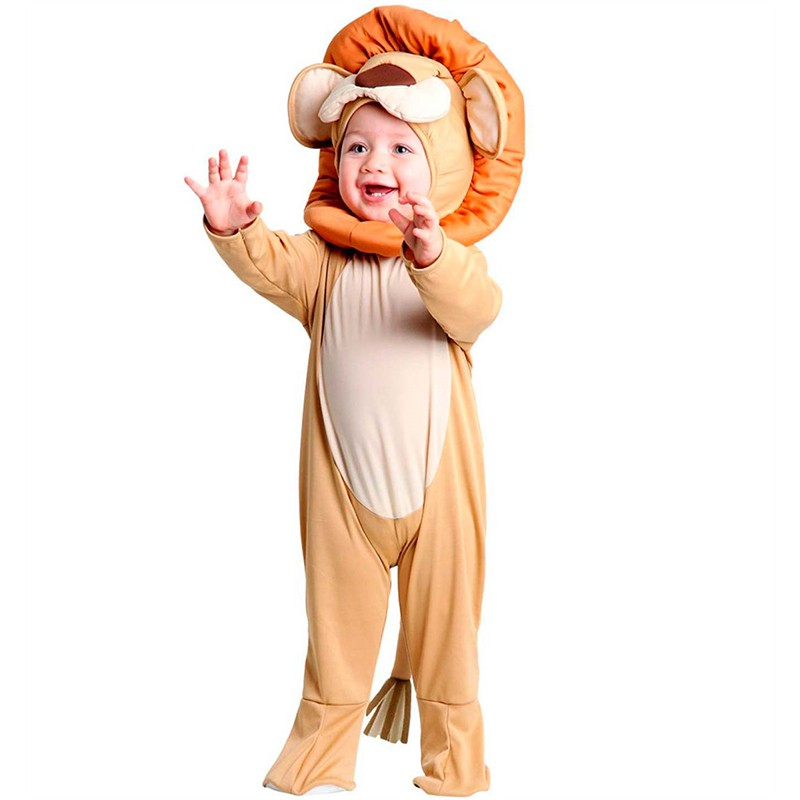 Fantasia Leão Bebê com Capuz