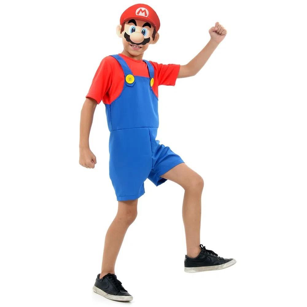 Fantasia Mario - Curto - Infantil