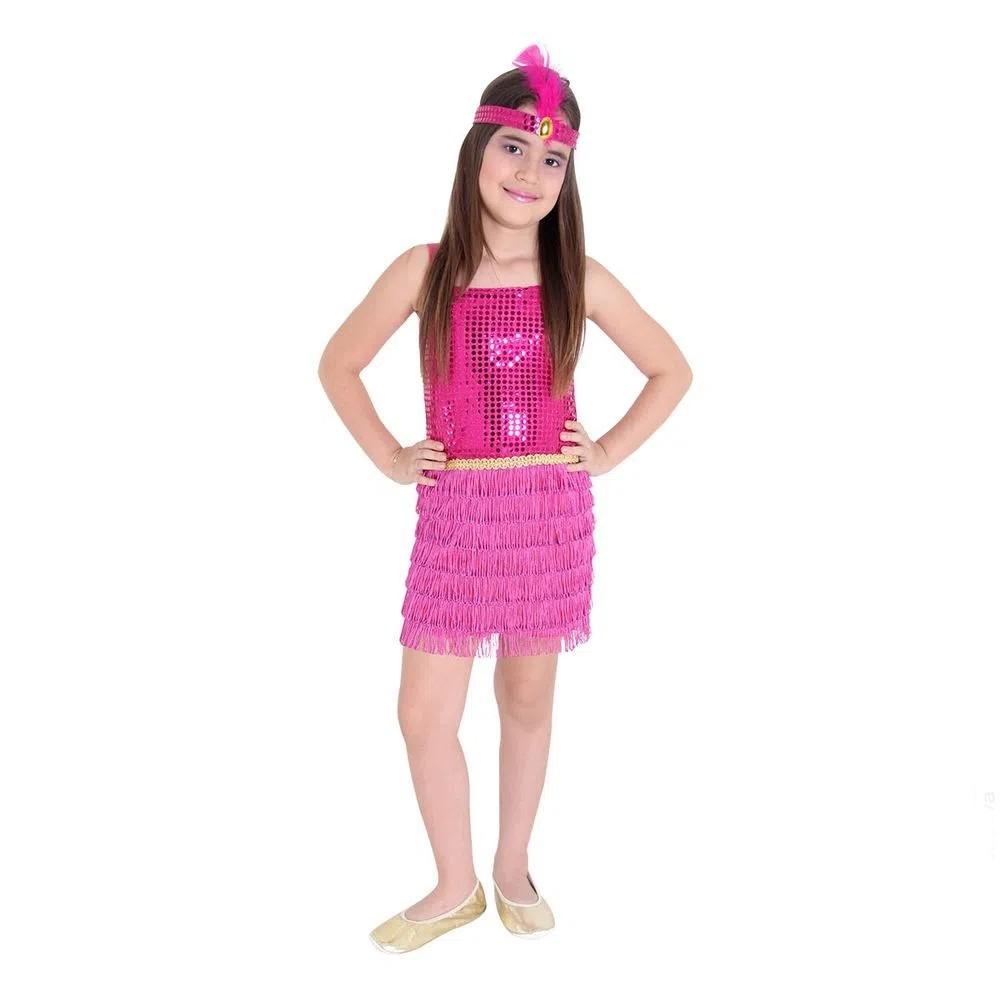 Fantasia Melindrosa Rosa - Infantil