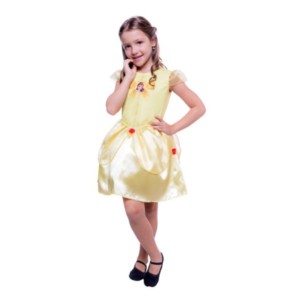 Fantasia Princesa Bela Infantil Pop Vestido