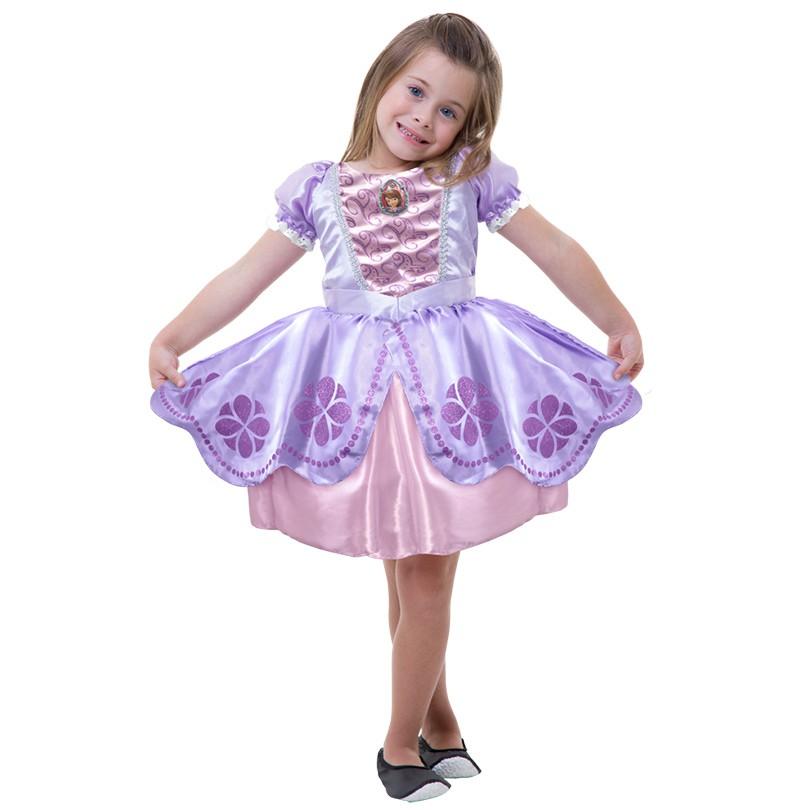 Fantasia Princesa Sofia - Clássica - Infantil