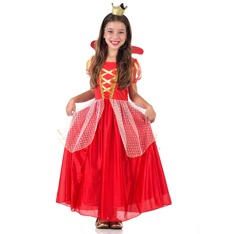 Fantasia Rainha Luxo - Infantil